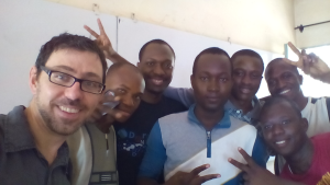 A selfie with the students